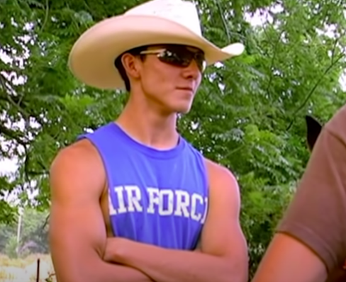 <p>It's the cowboy hat paired with the tank top for me!</p>