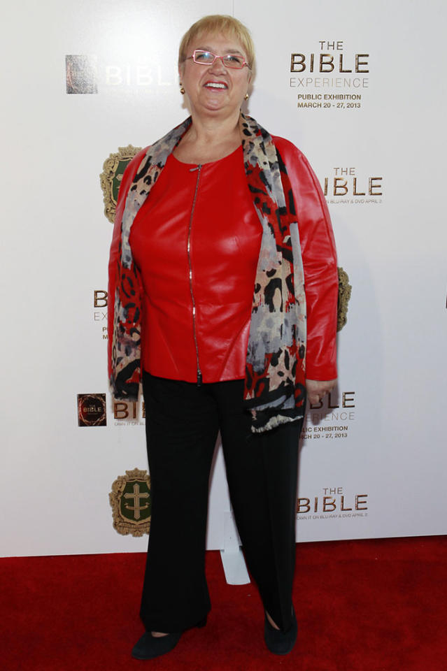 "Chef Lidia Bastianich arrives at ""The Bible Experience"" opening night gala, a rare exhibit of biblical artifacts, in New York City on Tuesday, March 19 in New York."