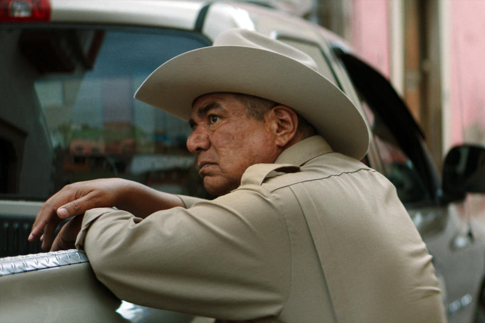 "This image released by IFC Films shows George Lopez in a scene from ""No Man's Land."" (IFC FIlms via AP)"