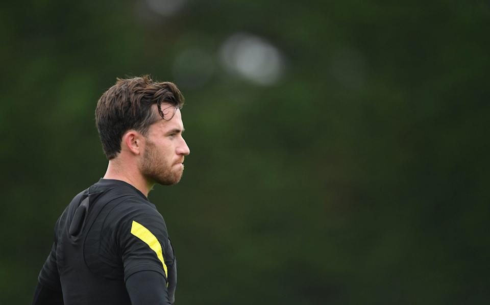 Ben Chilwell of Chelsea looks on during a Chelsea FC Training Session at Chelsea Training Ground on September 02, 2021 in Cobham, England. - GETTY IMAGES