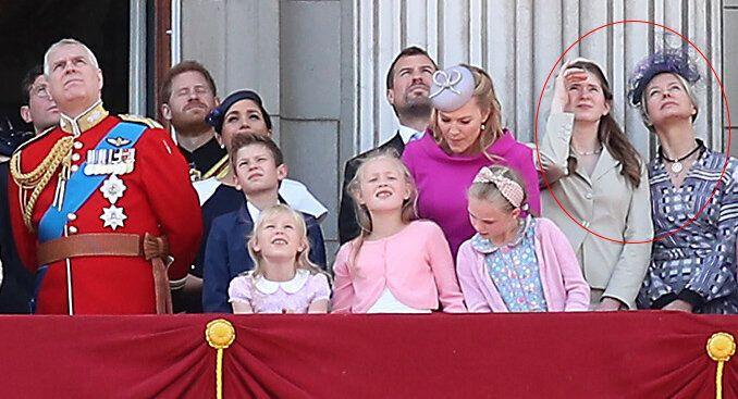 Lady Helen Windsor and her daughter Estella Taylor at Trooping the Colour 2019
