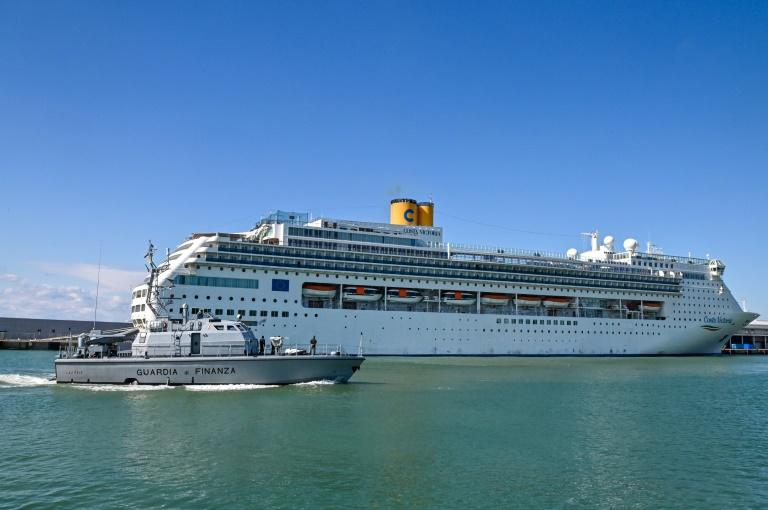 The vessel has been looking for a safe port after evacuating an Argentine woman who fell ill with respiratory problems