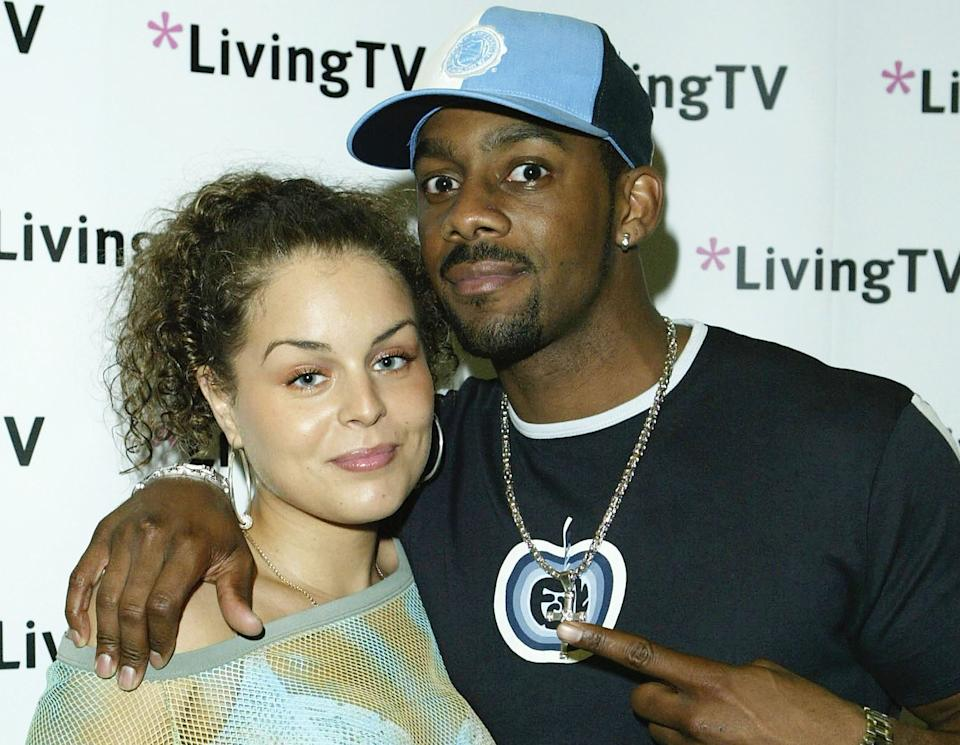 Richard Blackwood with ex-girlfriend Samia Stokes who he credits with saving his life. (Getty Images)