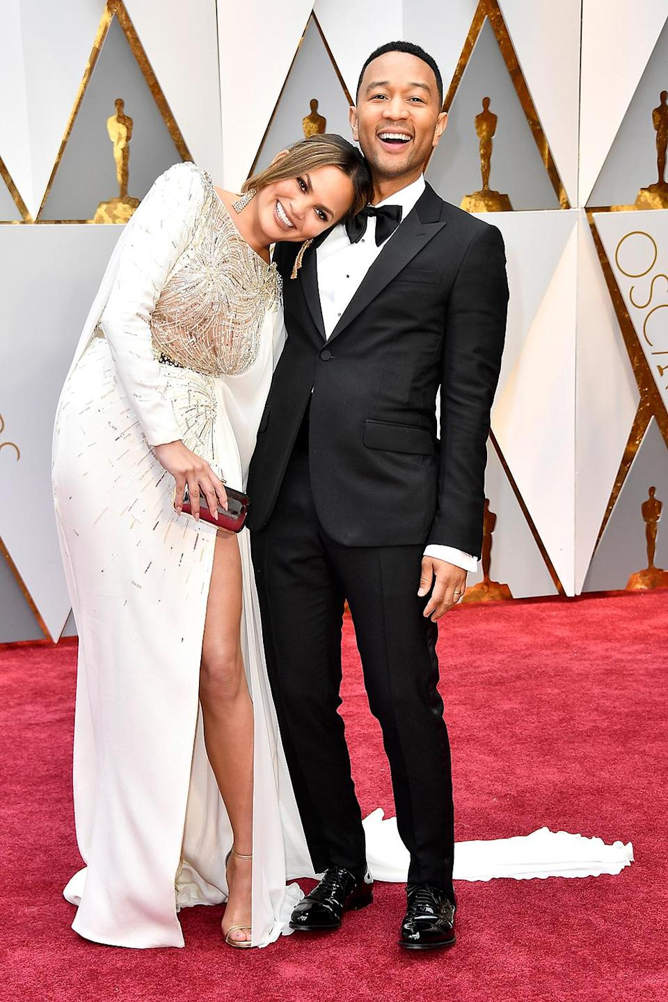 <p>Model Chrissy Teigen and singer John Legend attend the 89th Annual Academy Awards at Hollywood & Highland Center on February 26, 2017 in Hollywood, California. (Photo by Frazer Harrison/Getty Images) </p>