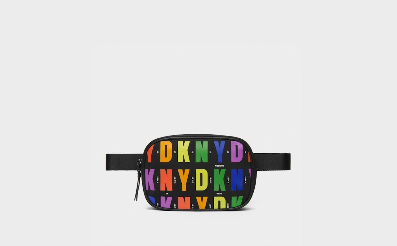 """<p><strong>DKNY</strong></p><p>donnakaran.com</p><p><strong>$58.00</strong></p><p><a href=""""https://go.redirectingat.com?id=74968X1596630&url=https%3A%2F%2Fwww.donnakaran.com%2Fproduct%2Fpride%2Bround%2Bbelt%2Bbag.do&sref=http%3A%2F%2Fwww.seventeen.com%2Flife%2Fg20195640%2Fgay-pride-clothing-lgtbq-friendly-companies%2F"""" target=""""_blank"""">Shop Now</a></p><p>Treat your inner hypebeast to a technicolor belt bag that deserves to be Insta'd. Donna Karan combined forces with <a href=""""https://hmi.org/event/schools-out-2019/"""" target=""""_blank"""">Hetrick-Martin Institute</a> to create this collection and instead of donating proceeds, DKNY went right ahead and <strong>made a donation to HMI themselves</strong>. The program provides empowerment, education, and advocacy for LGBTQ youth in the NYC area and beyond.</p>"""