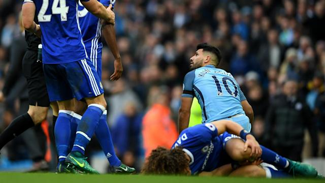 Antonio Conte has stressed he does not have any problems with Sergio Aguero as Chelsea prepare to face Manchester City.