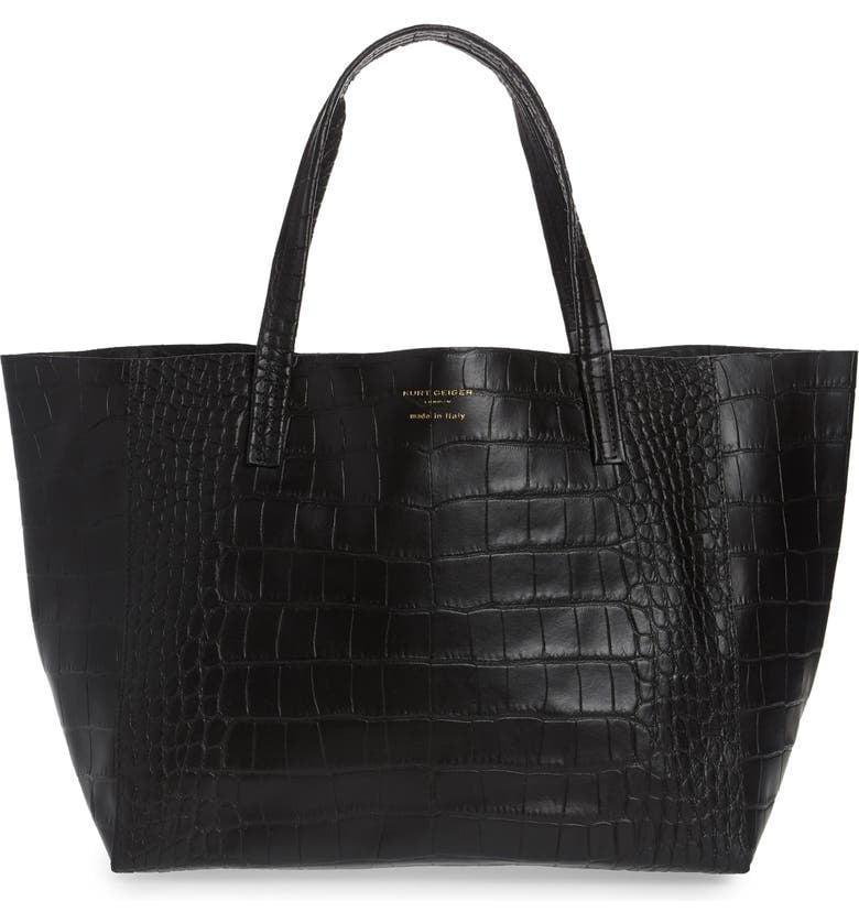 <p><span>Kurt Geiger London Violet Croc Embossed Leather Tote</span> ($147, originally $295)</p>