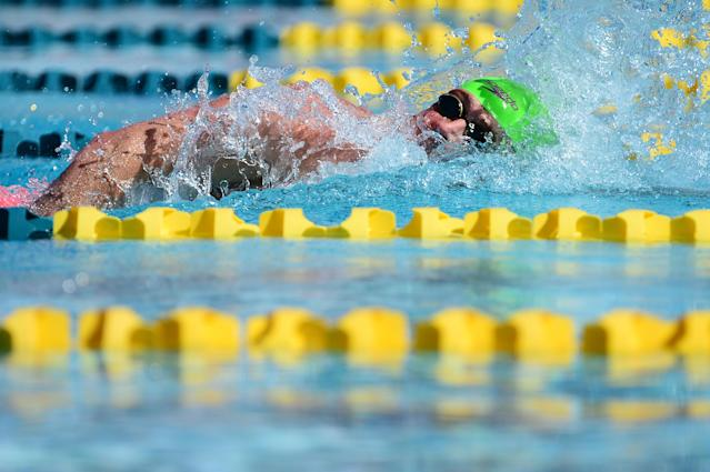 MESA, AZ - APRIL 14: Ryan Lochte competes in the Men 200 LC Meter Freestyle prelims at Skyline Aquatic Center on April 14, 2016 in Mesa, Arizona. (Photo by Jennifer Stewart/Getty Images)