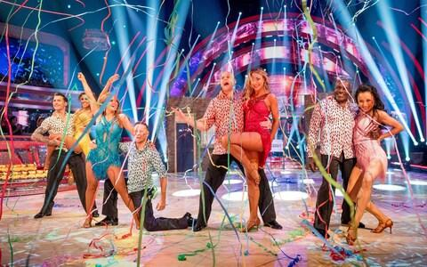 Strictly Come Dancing contestants on Children In Need - Credit: Guy Levy/BBC