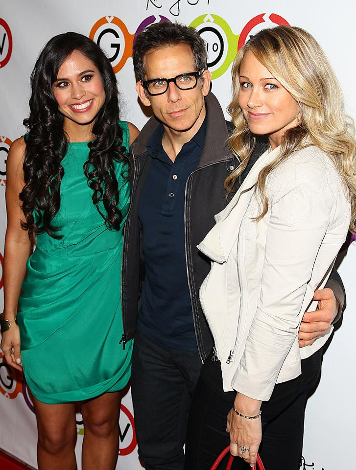 WEST HOLLYWOOD, CA - NOVEMBER 14: Kimberly Snyder, Ben Stiller and Christine Taylor-Stiller attend the opening of Kimberly Snyder's Glow Bio Juice Bar at Glow Bio on November 14, 2012 in West Hollywood, California. (Photo by JB Lacroix/WireImage)