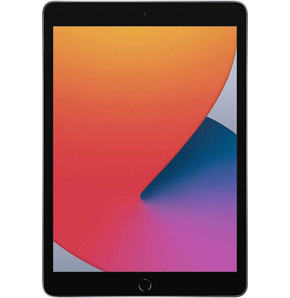 """<p><strong>Apple</strong></p><p>amazon.com</p><p><strong>$299.00</strong></p><p><a href=""""https://www.amazon.com/dp/B08J65DST5?tag=syn-yahoo-20&ascsubtag=%5Bartid%7C10054.g.34347153%5Bsrc%7Cyahoo-us"""" rel=""""nofollow noopener"""" target=""""_blank"""" data-ylk=""""slk:New"""" class=""""link rapid-noclick-resp"""">New</a></p><p>The latest iPad just dropped </p>"""