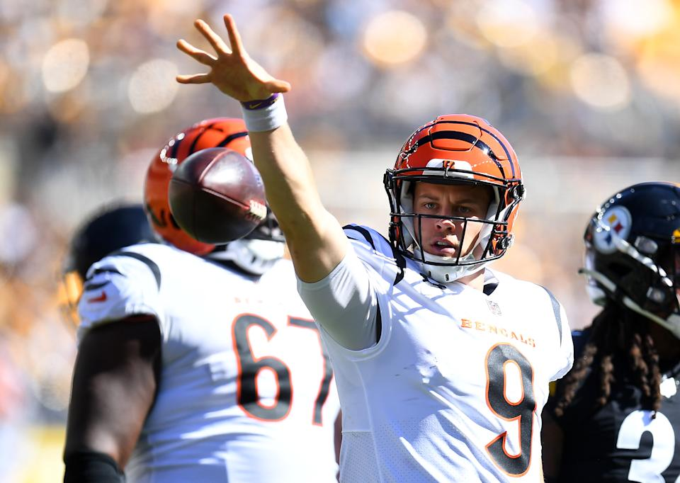 Joe Burrow has the Bengals off to a 2-1 start. (Photo by Joe Sargent/Getty Images)