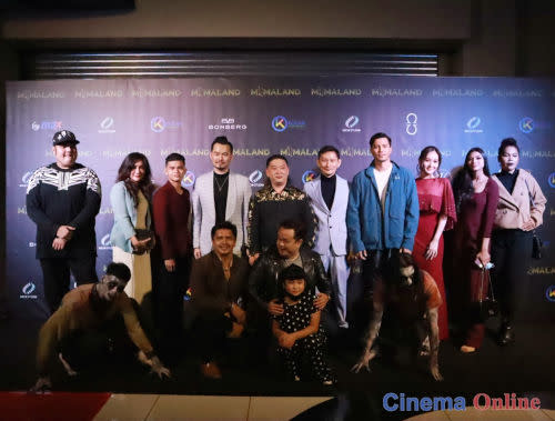 """The director, cast and crew of """"Miimaland"""" who attended the gala premiere."""