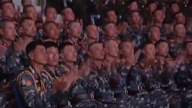 Members of North Korea's military helped celebrate the occasion. Source: Supplied