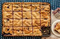 """People want pie. And slab pies are how you feed them. They're baked on a sheet pan, which makes them easy to transport, cut, and eat. <a href=""""https://www.epicurious.com/recipes/food/views/blueberry-peach-slab-pie-51249610?mbid=synd_yahoo_rss"""" rel=""""nofollow noopener"""" target=""""_blank"""" data-ylk=""""slk:See recipe."""" class=""""link rapid-noclick-resp"""">See recipe.</a>"""