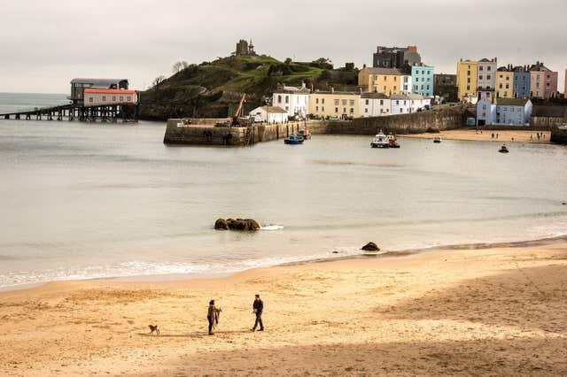 The beach at Tenby, Wales (Ben Birchall/PA)
