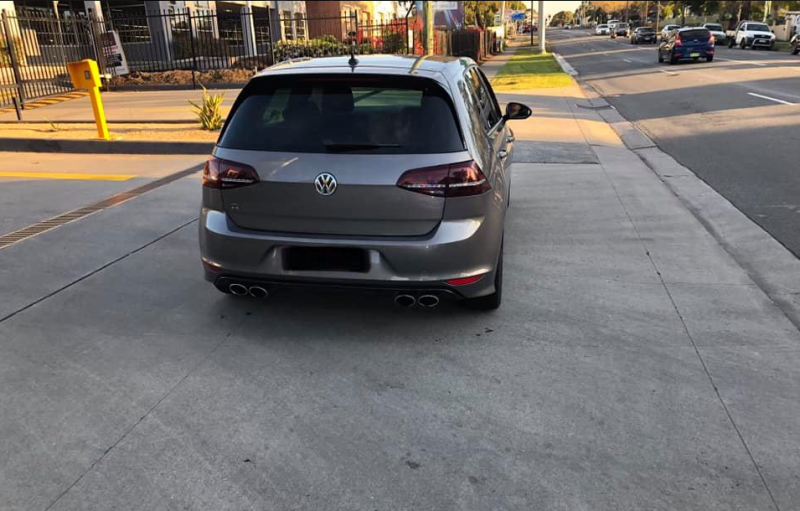 Pictured is the grey Volkswagon Golf caught speeding nearly three times the speed limit in Riverwood on Sunday.