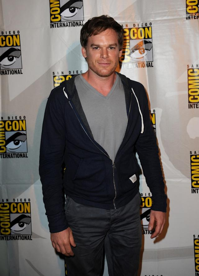 "SAN DIEGO, CA - JULY 18: Actor Michael C. Hall attends Showtime's ""Dexter"" panel during Comic-Con International 2013 at San Diego Convention Center on July 18, 2013 in San Diego, California. (Photo by Albert L. Ortega/Getty Images)"
