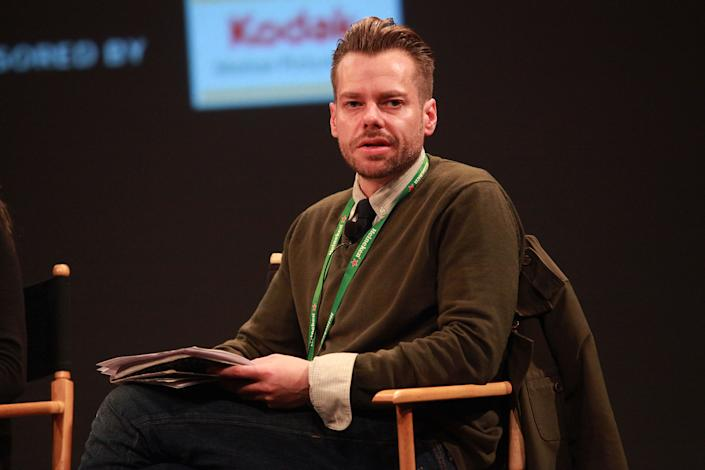NEW YORK, NY - APRIL 28: Joshua Zeman speaks during the Tribeca Talks Industry: Shooting Film On A Budget panel during the 2011 Tribeca Film Festival at the SVA Theater on April 28, 2011 in New York City.  (Photo by Astrid Stawiarz/Getty Images)