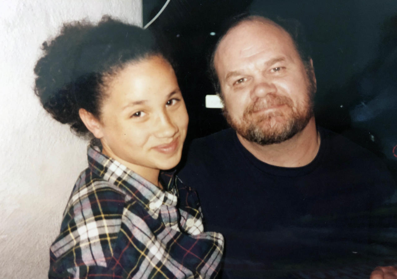 """<p>Meghan's dad Thomas often had her on the set of his hit show 'Married with Children'. """"Every day after school for 10 years I was there,"""" she revealed in a 2013 interview. Photo: Mega </p>"""