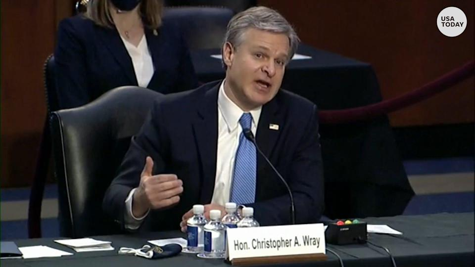 """FBI Director Christopher Wray said a """"raw"""" warning was shared extensively with Capitol Police the night before the Capitol riots."""