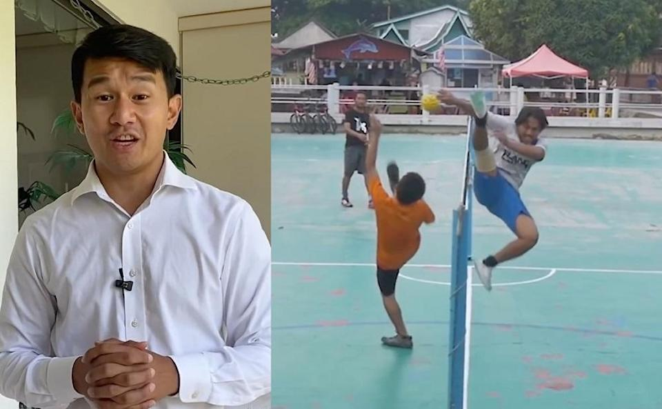 Chieng joked that sepak takraw would be the perfect sport for Americans frustrated by politics getting mixed up with sports. — Screengrabs via YouTube/The Daily Show with Trevor Noah