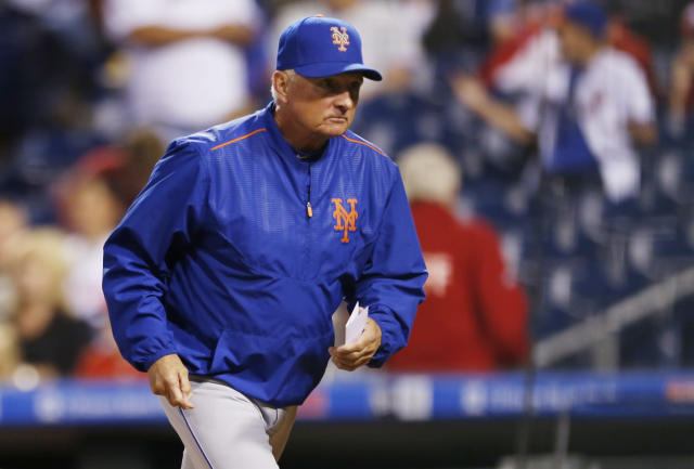 Terry Collins is out with the Mets. (AP Photo/Laurence Kesterson)
