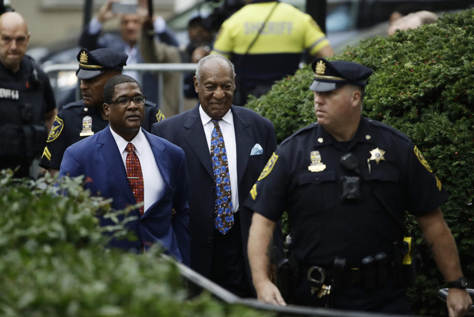 Bill Cosby arrives for his sentencing hearing at the Montgomery County Courthouse in Norristown, Pa. on Sept. 24. (Photo: AP Photo/Matt Rourke)