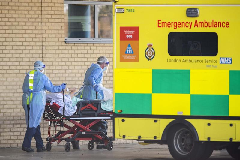 NHS workers in PPE in London: Getty Images