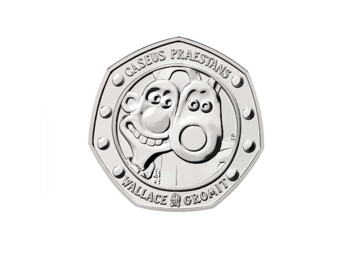 Fun and playful, this 50p coin pays homage to the inseparable duoThe Royal Mint