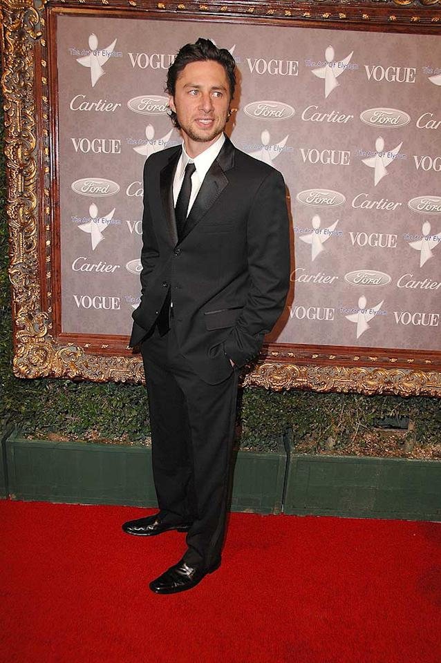 "It's great to see funnyman Zach Braff rocking a suit instead of his ""Scrubs."" Steve Granitz/<a href=""http://www.wireimage.com"" target=""new"">WireImage.com</a> - January 12, 2008"