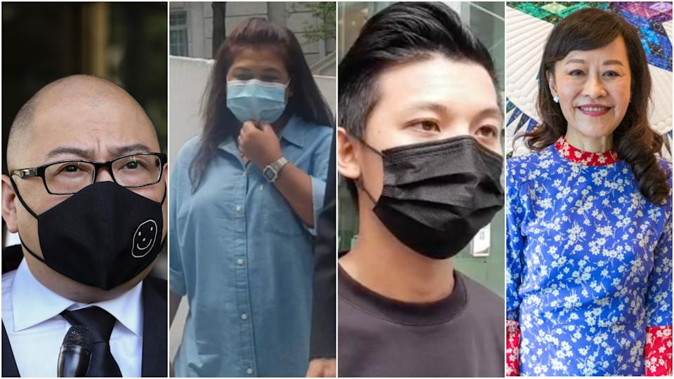 From left: Terry Xu, Parti Liyani, Chan Jia Xing, Lee Suet Fern (PHOTO: Yahoo News Singapore file photos)