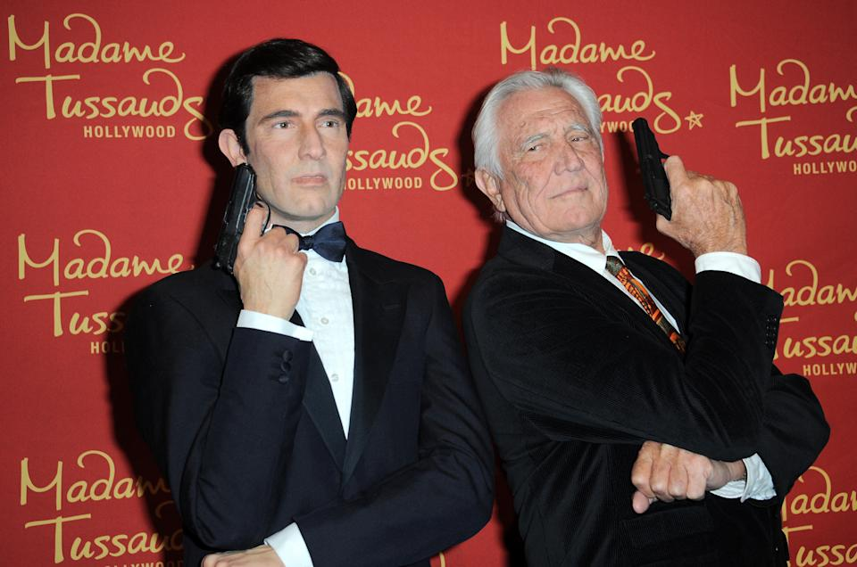 HOLLYWOOD, CA - DECEMBER 15:  Madame Tussauds Hollywood Reveals All Six James Bonds In Wax With Special Guest George Lazenby held at Madame Tussauds on December 15, 2015 in Hollywood, California.  (Photo by Albert L. Ortega/Getty Images)