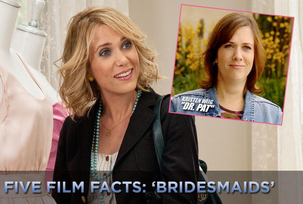 """""""Saturday Night Live"""" cast member <a href=""""http://movies.yahoo.com/movie/contributor/1809697704"""">Kristen Wiig</a> is hitting it big this weekend in """"<a href=""""http://movies.yahoo.com/movie/1800179162/info"""">Bridesmaids</a>,"""" a comedy that she stars in and co-wrote. But she had to work her way up to where she in now. Wiig's first TV role was on the """"Joe Schmo Show."""" The program, which ran from 2003- 2004 on Spike TV, was either a hyper self-reflexive reality TV show or a cruel """"Truman Show""""-style psychological experiment, depending on your point of view. Everyone in the show were actors except one poor guy who wasn't in on the joke and was under the impression that he was in a """"Big Brother""""-style TV program. Wiig played Dr. Pat, a supposed marriage counselor.    Click ahead to see more fun facts from """"<a href=""""http://movies.yahoo.com/movie/1800179162/info"""">Bridesmaids</a>."""""""