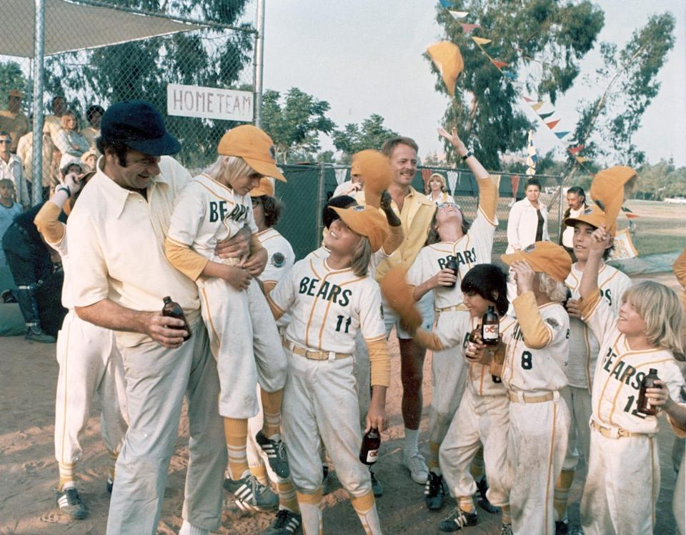 """Walter Matthau (far left) coaches the team to victory in """"The Bad News Bears."""""""