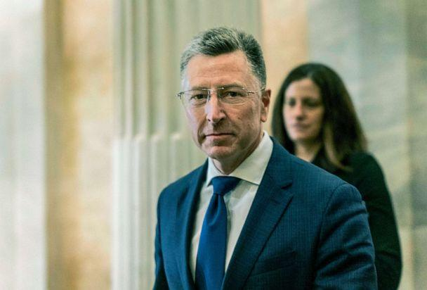 PHOTO: After an all-day deposition behind closed doors with the House Intelligence Committee, former United States envoy to the Ukraine Kurt Volker departs the Capitol, Oct. 3, 2019. (Melina Mara/The Washington Post via Getty Images)
