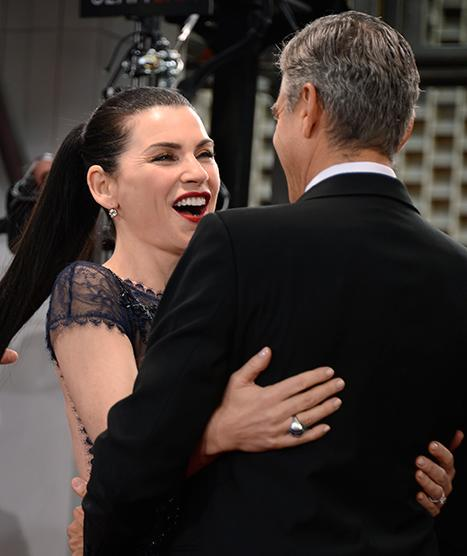 George Clooney, Julianna Margulies Have ER Reunion at the Golden Globes