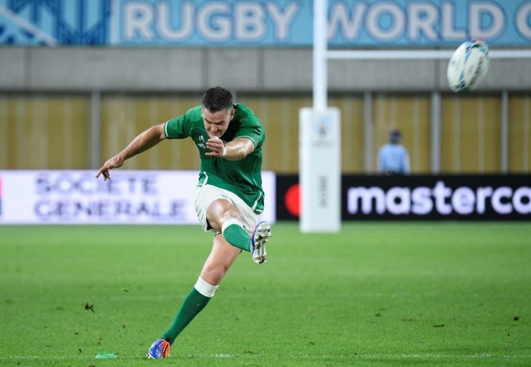 World Player of the Year Johnny Sexton will play a key role for Ireland (AFP Photo/Filippo MONTEFORTE)
