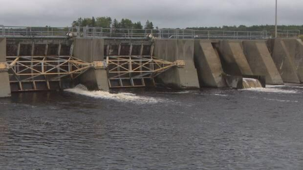 The rebuild of the Tusket dam in Yarmouth County is now expected to cost double what was originally budgeted. (CBC - image credit)