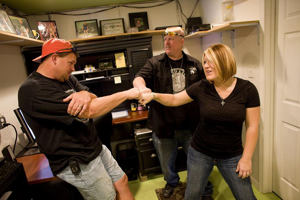 """Ron Shirley, Amy Shirley, and Bobby Brantley in """"Lizard Lick Towing."""""""