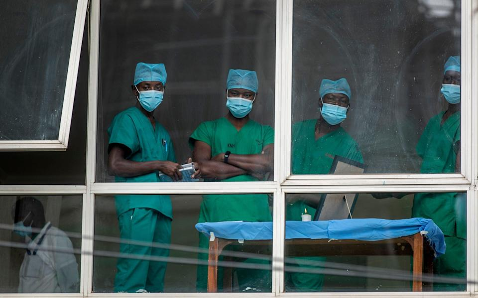 Medics in Nairobi, Kenya. There are some concerns Africa's health system may soon be overwhelmed by the coronavirus - AP Photo/Ben Curtis