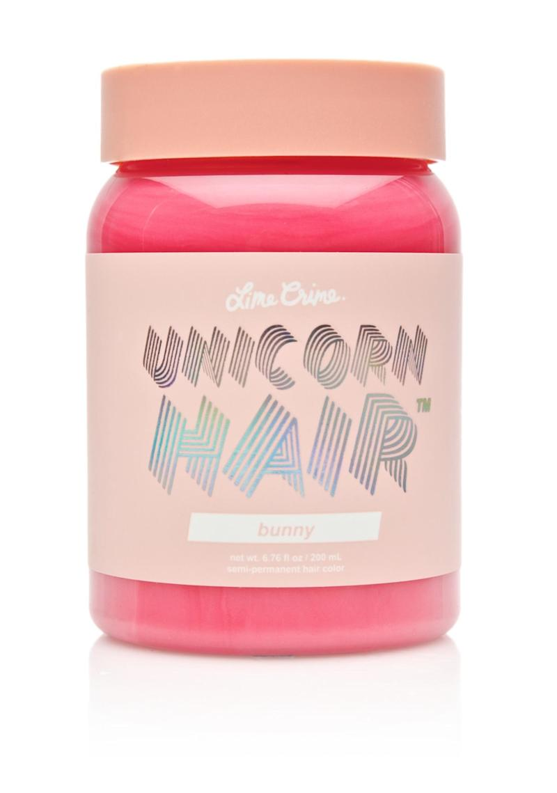 Shop Now: Lime Crime Unicorn Hair Semi-Permanent Hair Color Tint in Bunny, $16, available at Ulta.