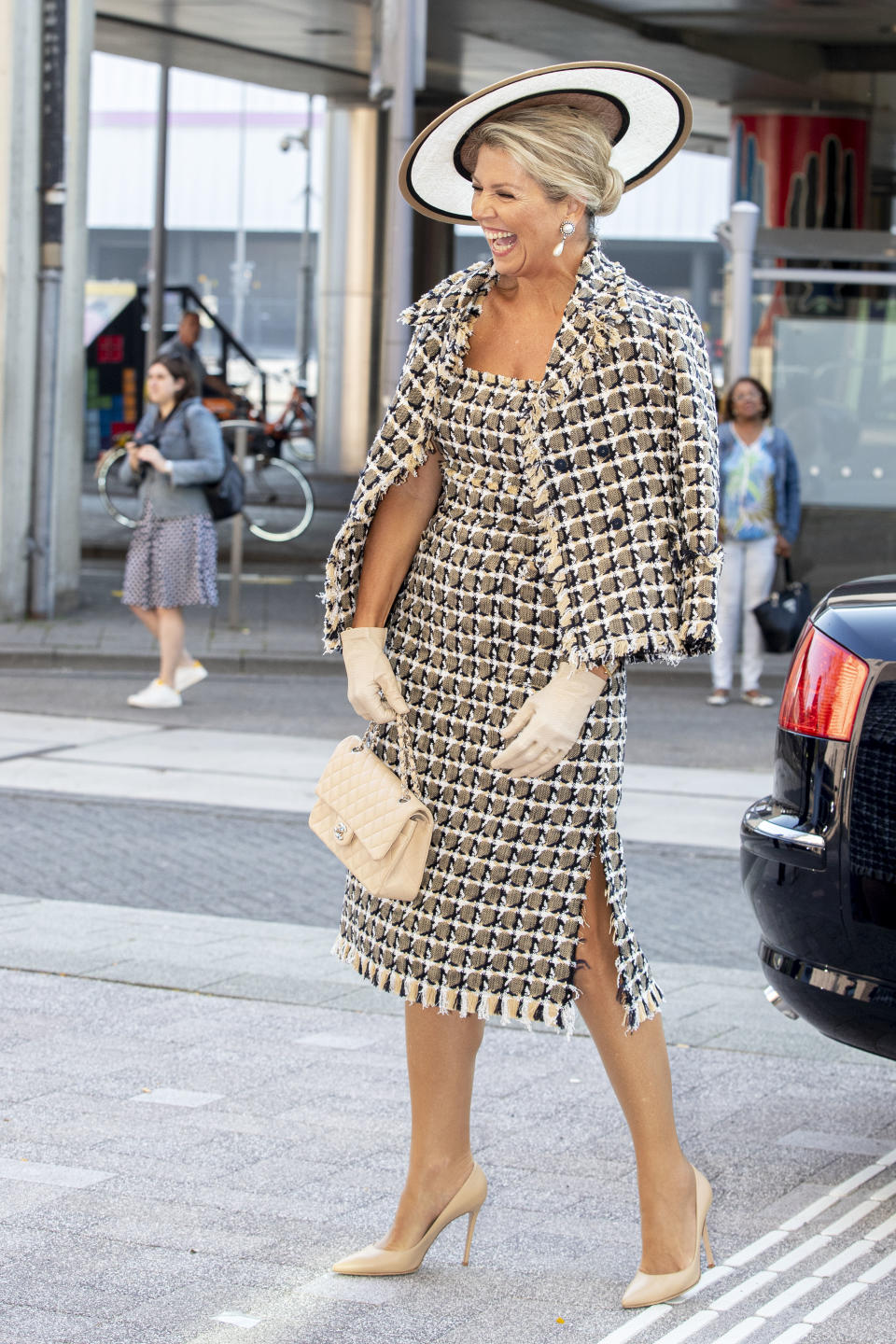ROTTERDAM, NETHERLANDS - SEPTEMBER 16: Queen Maxima of The Netherlands attends the opening of Theater Zuidplein on September 16, 2020 in Rotterdam, Netherlands. (Photo by Patrick van Katwijk/Getty Images)