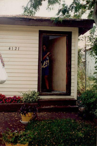 PHOTO: A young Sarah M. Broom is pictured here at 4121 Wilson Ave in front of her childhood home. (Courtesy Sarah M. Broom )