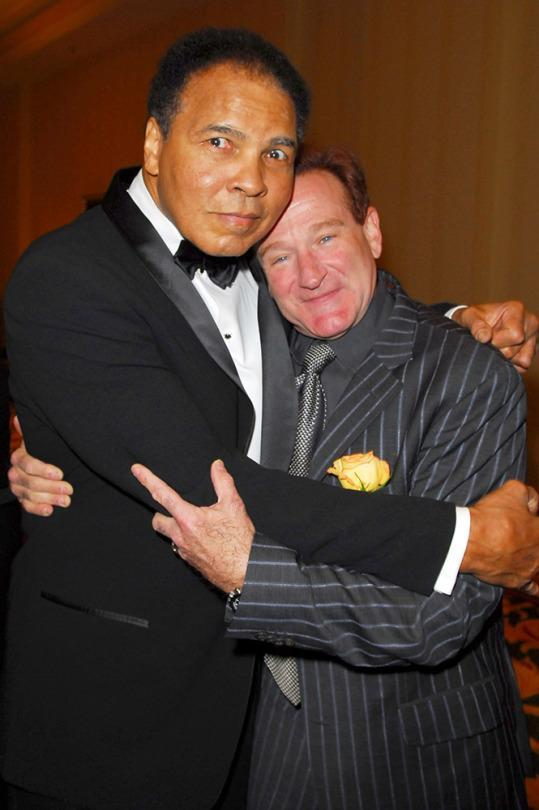 <p>Muhammad Ali and Robin Williams during Muhammad Ali's Celebrity Fight Night XII – Inside at JW Marriott Ridge Desert Resort in Phoenix, Arizona, United States. (Photo by M. Caulfield/WireImage for PMK/HBH)</p>