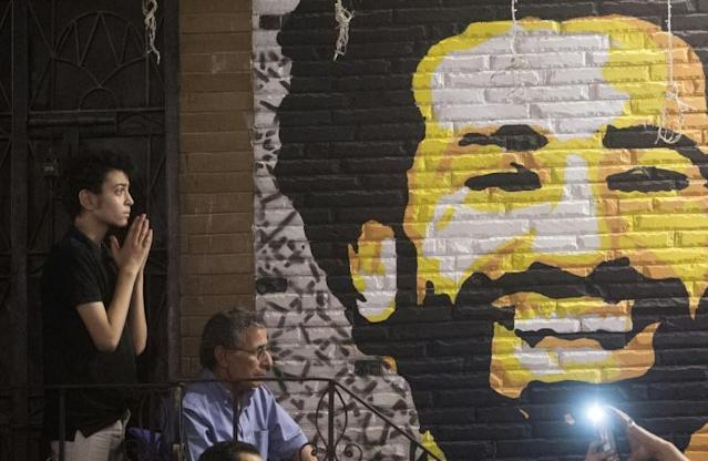 Fans in Cairo cafes watched anxiously as Egyptian star Mohamed Salah was hurt in the Champions League final