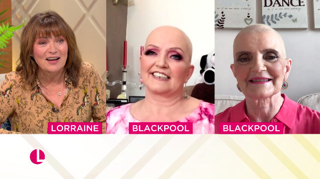 Anne and Linda Nolan talked to Lorraine about their cancer treatment. (ITV)