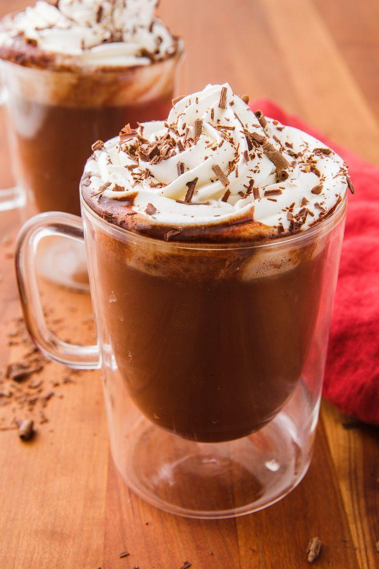 """<p>Homemade hot chocolate is infinitely better than the shop-bought stuff. And our recipe is extra decadent, thanks to the cup of actual chocolate (not just cocoa powder). </p><p>Get the <a href=""""https://www.delish.com/uk/cocktails-drinks/a31109876/best-hot-chocolate-recipe/"""" rel=""""nofollow noopener"""" target=""""_blank"""" data-ylk=""""slk:Classic Hot Chocolate"""" class=""""link rapid-noclick-resp"""">Classic Hot Chocolate</a> recipe.</p>"""