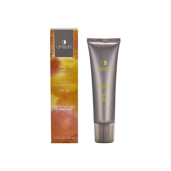 """<h3>Unsun Cosmetics Mineral Tinted Broad Spectrum Face Sunscreen SPF 30</h3><p>This tinted sunscreen's cult following is fully deserved: Unsun is made for people with medium and deep skin tones who want mineral SPF without the unwanted potential side effect of a grayish cast. Available in two shades (fair/light and medium/dark), it's been tested on a wide range of skin tones — and contains hydrating ingredients like shea butter, coconut oil, and cucumber extract to further sweeten the deal.</p><br><br><strong>Unsun Cosmetics</strong> Mineral Tinted Broad Spectrum Face Sunscreen SPF 30, $29, available at <a href=""""https://credobeauty.com/products/mineral-tinted-broad-spectrum-face-sunscreen-spf-30?variant=1846976512012"""" rel=""""nofollow noopener"""" target=""""_blank"""" data-ylk=""""slk:Credo"""" class=""""link rapid-noclick-resp"""">Credo</a>"""