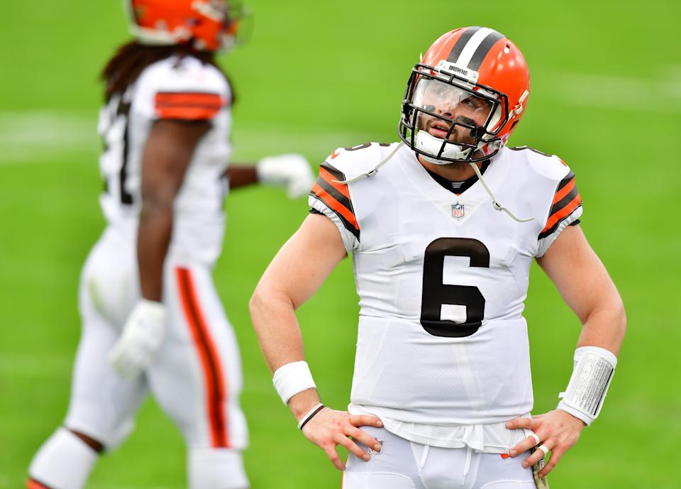 Baker Mayfield is an enigma. (Photo by Julio Aguilar/Getty Images)